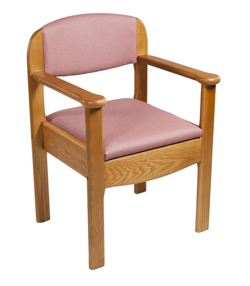Silla w c de madera royal ortopedia geriayuda for Sillas de madera