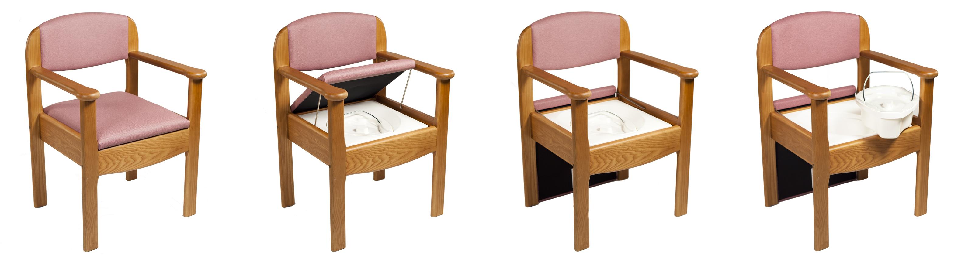 Silla w c de madera royal ortopedia geriayuda for Sillas para inodoros