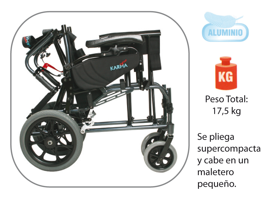 Silla de ruedas basculante de aluminio plegable vip geriayuda - Silla ruedas plegable ...