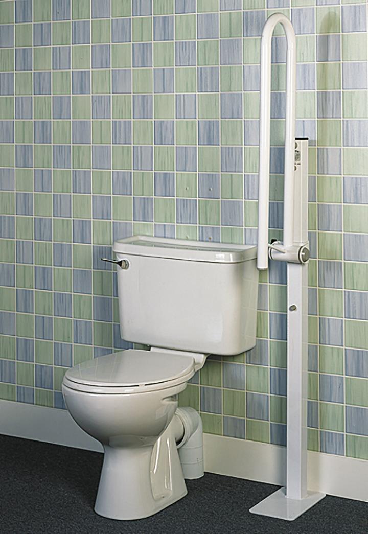 Barra de baño abatible sobre mástil - GeriayudaGeriayuda